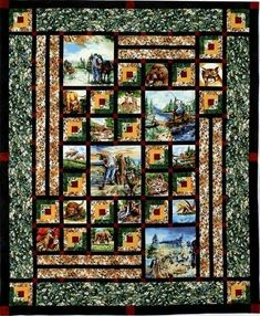 Image result for panel quilt patterns