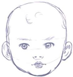 how to draw a baby face by Tanya Rohloff
