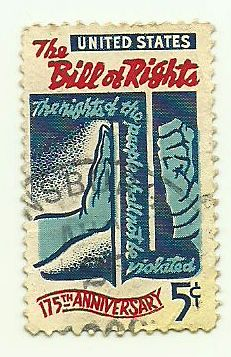 The Bill of Rights, 175th Anniversary . 1789-1964. USA stamp printed circa 1964