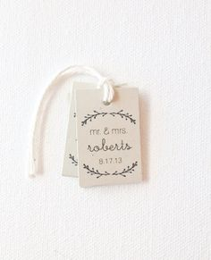 Wedding favor tags  mr and mrs tags  recycled by PrintSmitten, $12.00