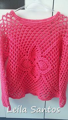 * Pérolas do Crochet: Blusa Barroco MaxColor - Leila Santos