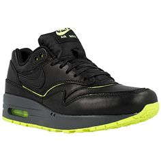 Nike Womens Wmns Air Max 1 Cut Out PRM BLACKBLACKVOLTDARK GREY 7 US >>> Click on the image for additional details.(This is an Amazon affiliate link)