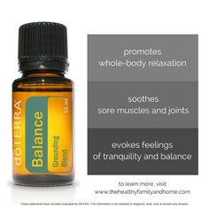 doTERRA Balance Essential Oil Blend | The Healthy Family and Home