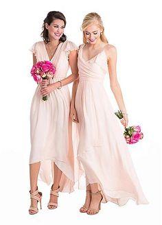 Wonderful Chiffon V-Neck Neckline Hi-lo A-Line Bridesmaid Dresses