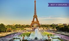 Groupon - ✈ 8-Day Paris and Barcelona Vacation with Airfare. Price per Person Based on Double Occupancy (Buy 1 Groupon/Person).  in France and Spain. Groupon deal price: $1,199
