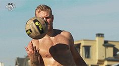 Patric Hornqvist I Pens Beach Volleyball in Southern California