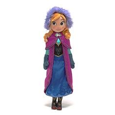 Disney Anna From Frozen Soft Toy Doll | Disney StoreAnna From Frozen Soft Toy Doll - Re-create scenes from Disney's Frozen this winter with our Anna soft toy doll. With superb character detailing, courageous Princess wears a satin dress, a soft hat and a cape, ready for her next adventure.