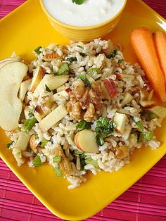 Brown Rice with Apple and Walnuts