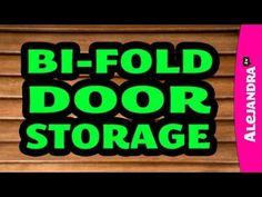 unlach your bi fold door and hang up door pockets!