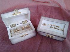 Small Wooden Ring Bearer Box – Custom Engraved