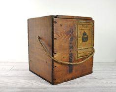 """Wood Crate. 11"""" x 10"""" x 12"""" high"""