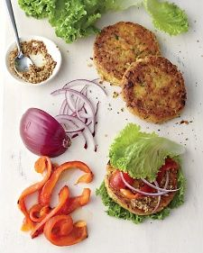 Chickpea-brown rice veggie burger - whole living eat well