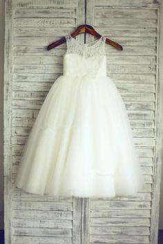 TUTU Lace Tulle Ivory Flower Girl Dress Wedding Easter Junior Girl Dress Baby   Clothing, Shoes & Accessories, Kids' Clothing, Shoes & Accs, Girls' Clothing (Sizes 4 & Up)   eBay!