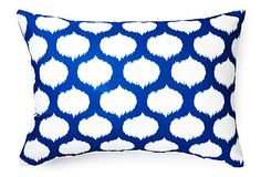 Divine Designs-Ikat Circles 14x20 Outdoor Pillow, Blue on OneKingsLane.com
