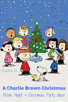 Weve rounded up some ideas for A Charlie Brown Christmas party or movie night! Recipes, decor, activities, and other plans to make this years tradition extra special! Charlie Brown Christmas Movie, Charlie Brown Und Snoopy, Christmas Movie Night, Office Christmas, Christmas Party Games, Christmas Activities, Christmas Traditions, Christmas Themes, Kids Christmas