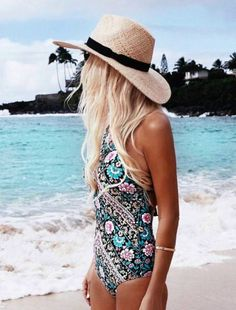 floral print one-piece