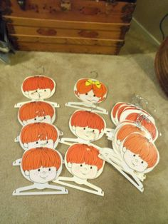 1971 Kids Creations Hangers 18 Plastic Boys by doyourememberwhen