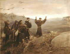 Francisco y sus hermanos van a Roma para que el Señor Papa les apruebe su forma de vida