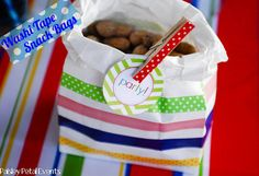 Washi Tape Snack Bags