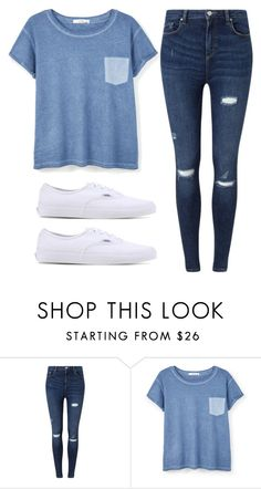 """#61"" by paugarza002 on Polyvore featuring moda, Miss Selfridge, MANGO y Vans"