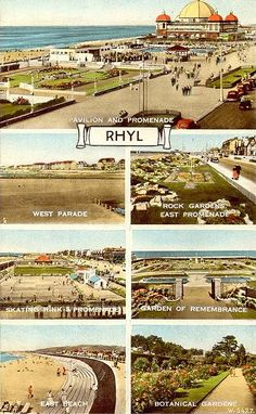 Flintshire, Rhyl Multivew Postcard