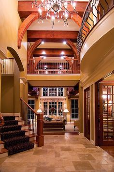 A Breathtaking View of the Custom Built Home The Grand Foyer is Fabulous