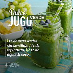 #jugo #verde #receta con uvas y agua de coco