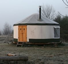 A Yurt!  Says you can assemble this one in 45 min. with 2 people.