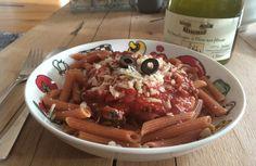 pittige pasta met tomaat & ansjovis