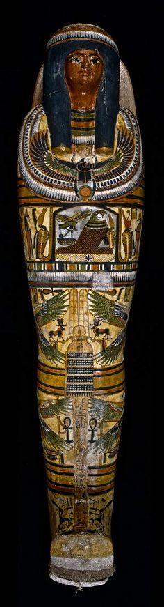 Mummy of Nesperennub in cartonnage case. Thebes, 22nd Dynasty (ca 800 BC)