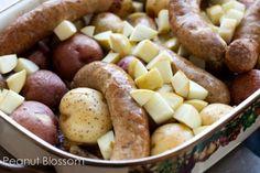 Roasted sausage, apples, potatoes, onions | Peanut Blossom