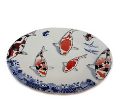 2 Kio Platter Plates by NaturesCrossroad on Etsy
