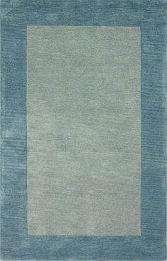 Rugs USA Elegance Solid Border Ice Blue Rug $493