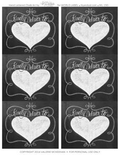 graphic about Free Printable Chalkboard Labels known as 24 Easiest Chalkboard labels and templates, Do-it-yourself too! photos within just