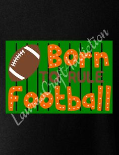 Rule the playground and football field with these Born to Rule designs!  There are two designs, Born to Rule Football and Born to Rule Recess.  Included in the zip download are SVG, PNG, JPG, PDF and Silhouette Studio formats.  Please check out my other designs here at Etsy https://www.etsy.com/shop/LaurasCraftAddiction  This is a digital download, not a finished product.  Registration marks are included to help with alignment.  I personally have a Silhouette Cameo, and have limited…