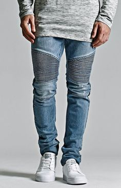 Bullhead Denim Co. Medium Moto Stacked Skinny Jeans