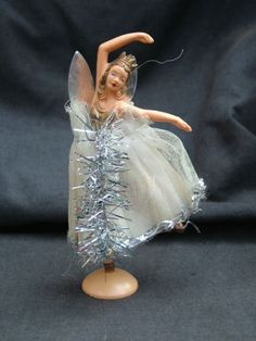 vintage Christmas tree fairy