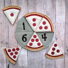 Pizza Number Matching Game, Embroidered Acrylic Felt, 6 pizza slices and felt pan, Educational Preschool Game, Made in USA Number Matching, Matching Games, Pizza Number, Educational Games For Preschoolers, Math Activities, Felt Pizza, Felt Games, Pizza Art, Numbers For Kids