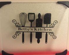 Hey Good Lookin' Personalized Cutting Board by CraftasticGiftsbyK