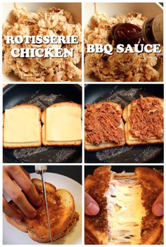 BBQ Chicken Grilled Cheese --> See the video on facebook