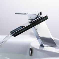 Concept Faucet KWC DAN Is A New Bathroom Sensation Product - Contemporary waterfall faucets riflessi from gessi