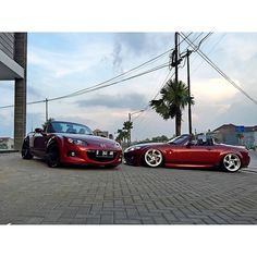 "topmiata: ""@adiyudhatama x @deanalifiansyah www.topmiata.com | #TopMiata #mazda #miata #mx5 #eunos #roadster #ozwheels"""