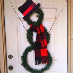 My snowman wreath!