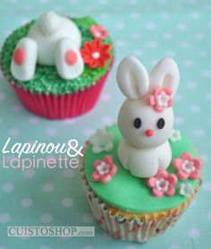 Modelage pâte à sucre Cupcakes tuto  Easter
