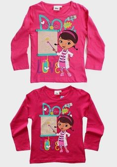 Disney Girls' Doc McStuffins Pink Long Sleeve T-Shirt  #fashionstyle #fashion #clothes #shoppingonline #instalikes #kidsclothes #shoppingday #canada #onlinestore #instagram