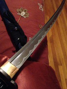 Hamon of my current sword. Katana Swords, Samurai Swords, Survival Life, Damascus Steel, Blade, Art, Art Background, Kunst, Swords