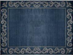 Tapis fait main rectangulaire sur mesure AMIRAL FRAME Collection Renaissance by EDITION BOUGAINVILLE