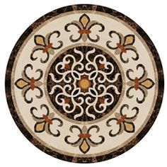 "Samba Water-Jet Medallion 48"" Stone Cladding, Floor Patterns, Art Furniture, Artwork Design, Ceiling Design, Mosaic Tiles, Wood Art, Printables, Free Shipping"