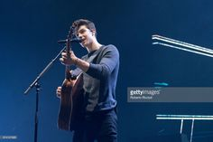 Canadian singer and songwriter Shawn Mendes performs on stage during the first world show of 'Illuminate tour' at The Hydro on April 27, 2017 in Glasgow, United Kingdom.