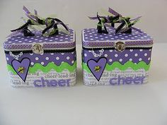 Cute makeup box idea.  Remember a mirror is a necessity.   Can customize for team colors.